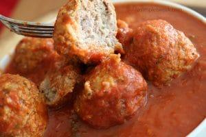 Meatballs in Tomato Basil Sauce