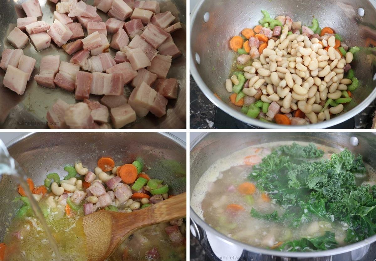 Steps to make Smoked Ham Kale Soup