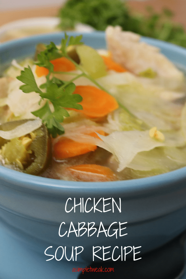 A Bowl of Chicken Cabbage Soup