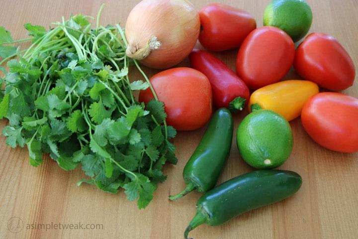 Fresh-cilantro,-jalapenos,-tomatoes