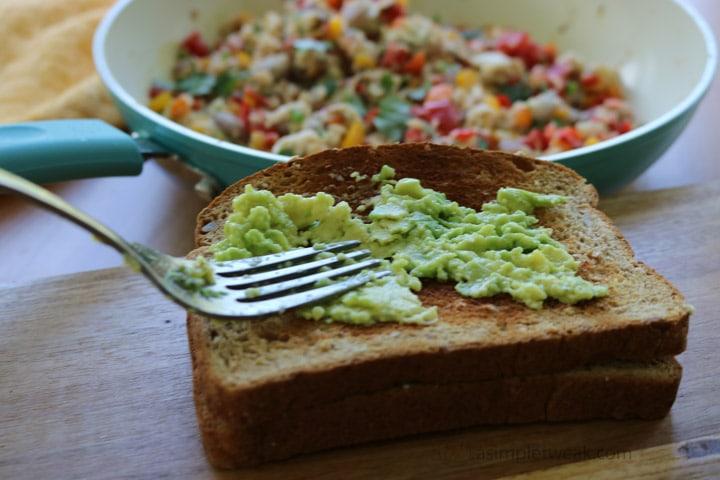 mashed-avocado-on-a-toast