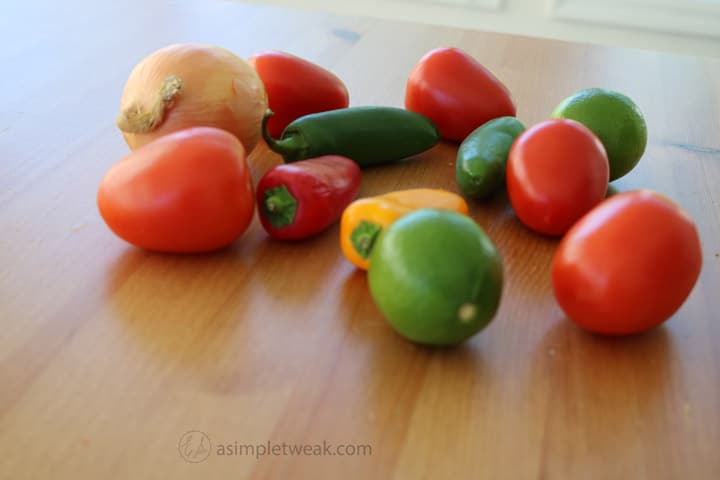 onion,-plum-tomatoes,-lime,-jalapenos,-seet-yellow-and-red-peppers