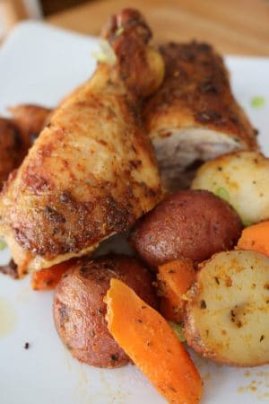 The Most Flavorful Baked Chicken Leg Quarters