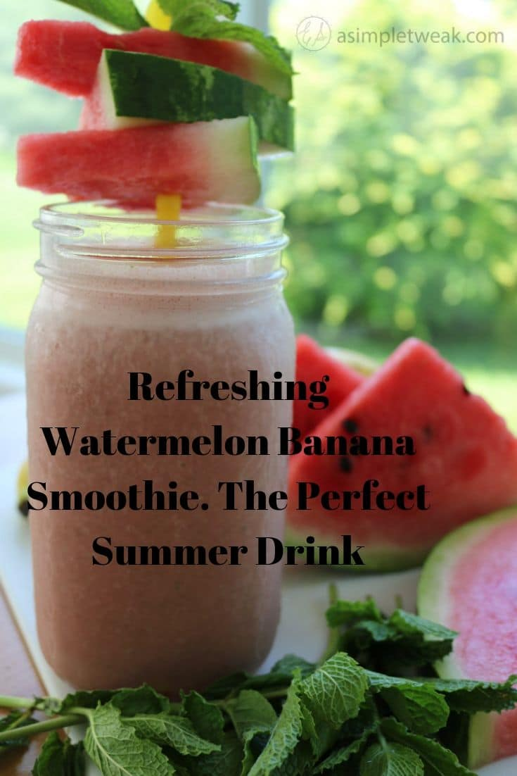 Refreshing Watermelon Banana Smoothie. The Perfect Summer Drink