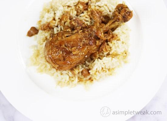 Adobo-Chicken-over-Jasmine-Brown-Rice