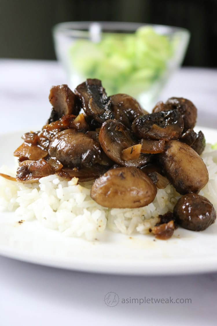 Mushroom Adobo Filipino Style Recipe A Simple Tweak