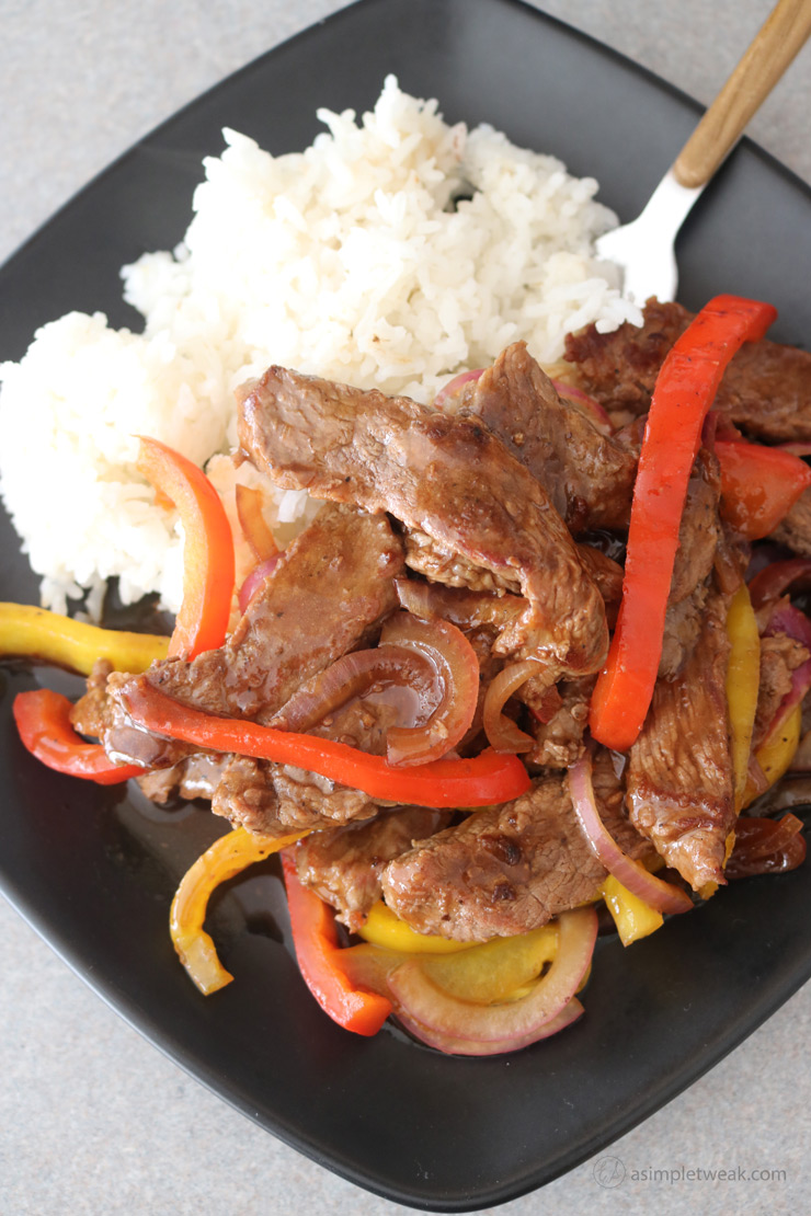 Beef and vegetables for dinner